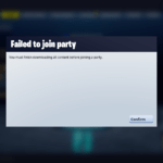 You Must Finish Downloading All Content Before Joining a Party