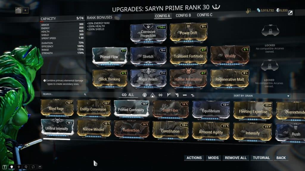 Saryn Elite Sanctuary Onslaught Build