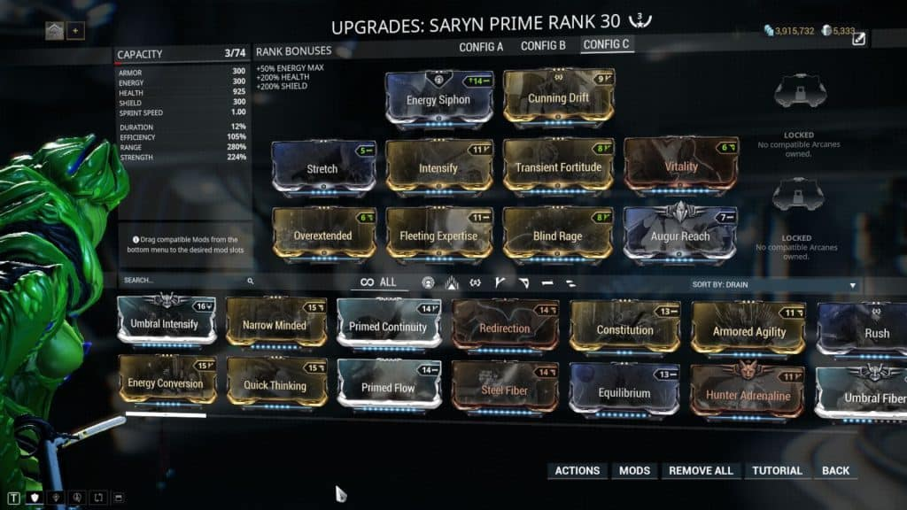 Saryn Spores Build