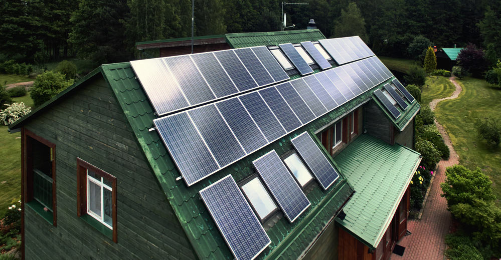 House with Solar Roofs